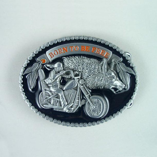 Born To Be Free Belt Buckle Fits 1 1/2 Inch Wide Belt.