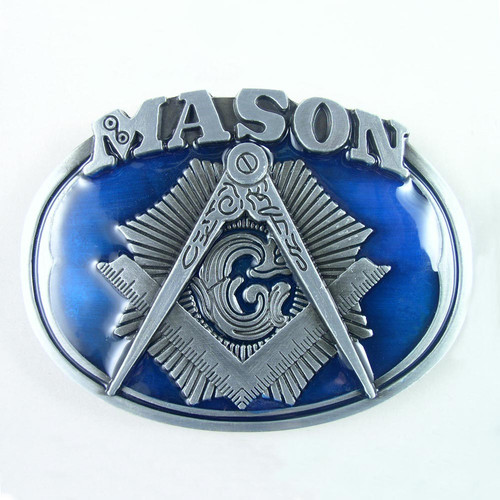 Mason Masonic Belt Buckle (A) Fits 1 1/2 Inch Wide Belt.