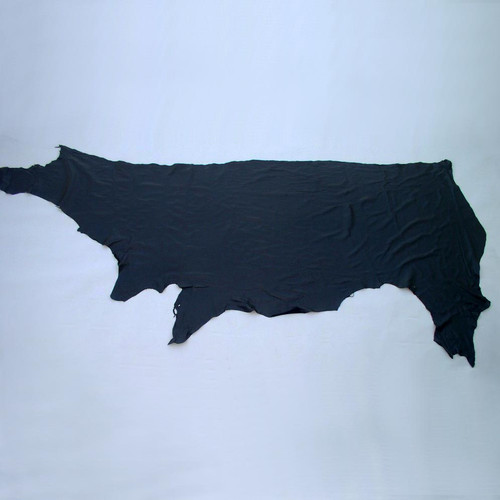 2 1/2 oz Black Garment Leather Cowhide Side