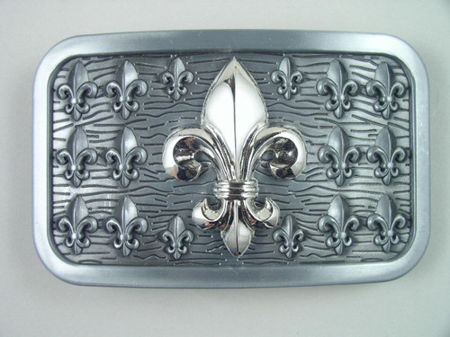 Fleur De Lis Belt Buckle Fits 1 1/2 Inch Wide Belt.