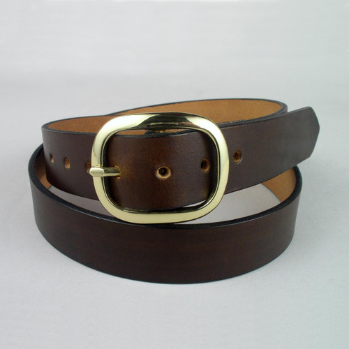 "Plain Leather Belt 1 1/4"" Wide"