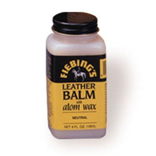 Leather Balm with Atom Wax Neutral Leather Polish 4 oz (118 mL)
