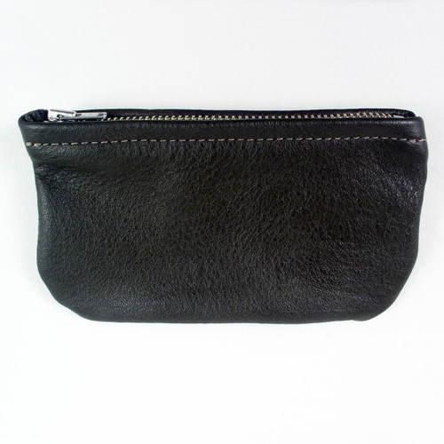 Soft Leather Zipper Coin Purse