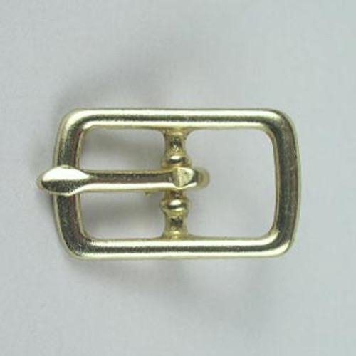 Center bar buckle inside diameter is 1/2 inch.