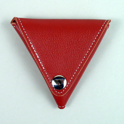 Deluxe Triangle Leather Change Purse