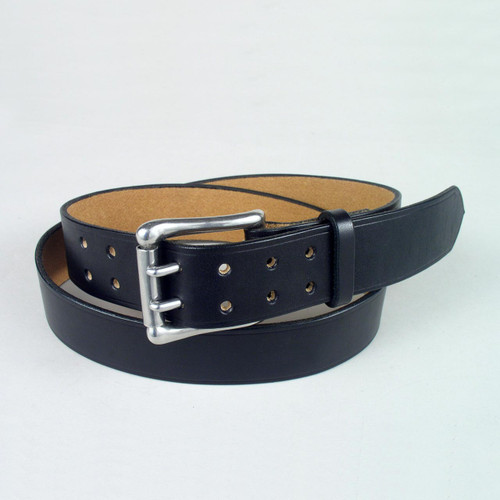 "Double Prong Leather Belt 1 1/2"" Wide"