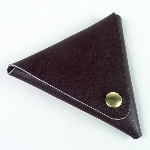 Economy Triangle Leather Coin Purse