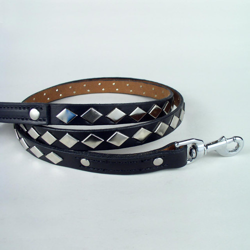 Diamond studded securable dog leash in six foot length.