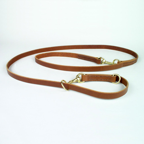 Multifunction dog leash used as a choker collar.