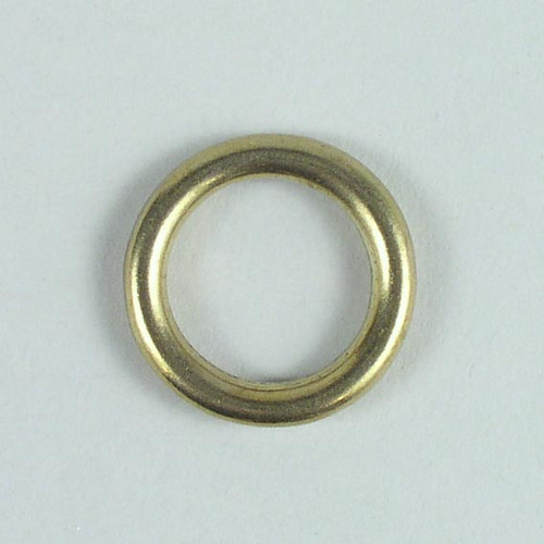Solid cast round ring inside diameter is 3/4 inch.