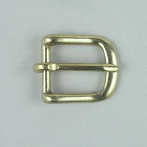 Heel bar buckle inside diameter is 3/4 inch.