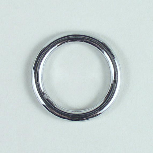 Solid cast round ring inside diameter is 15/16 inch.