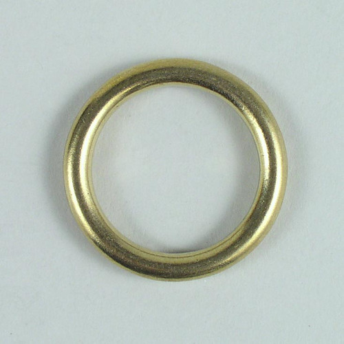 Solid cast brass O-ring inside diameter is 1 1/4 inch.