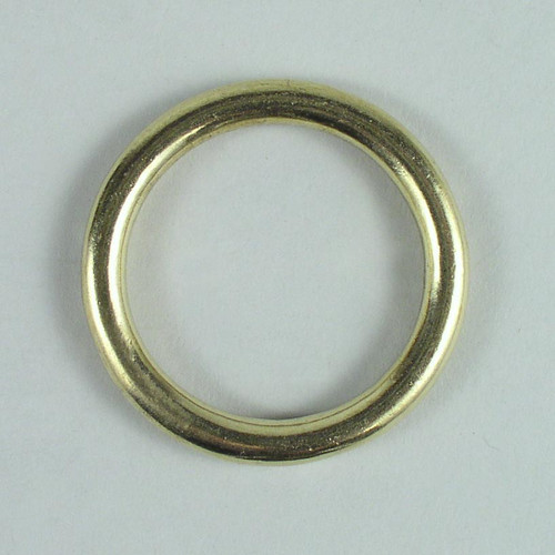 Solid cast brass O ring inside diameter is 1 1/2 inch.