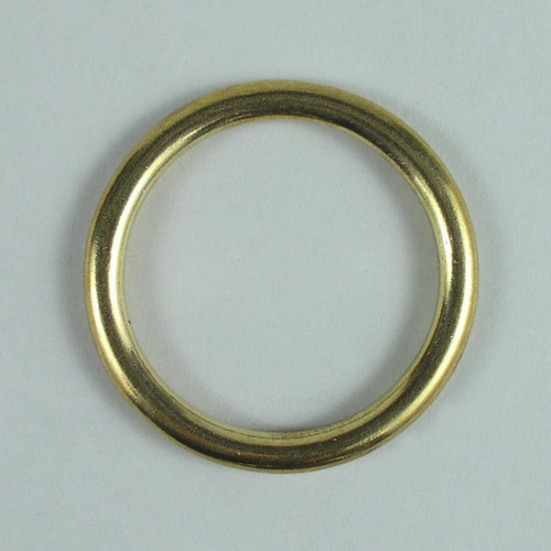 Solid cast brass O ring inside diameter is 2 inch.