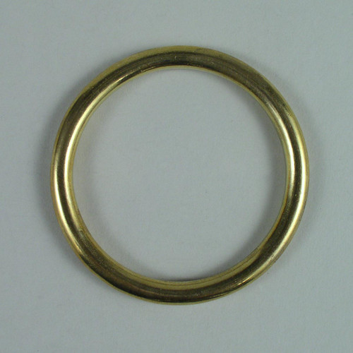 Solid cast brass O-ring inside diameter is 2 1/2 inch.