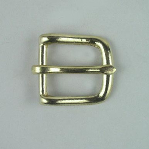 Solid brass buckle inside diameter is 1 inch.