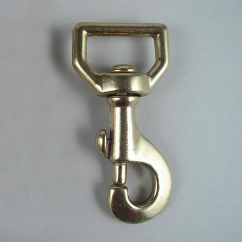 "1"" Sturdy Flat Swivel Snaps Solid Brass"