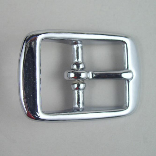 Chrome belt buckle inside diameter is 1 inch