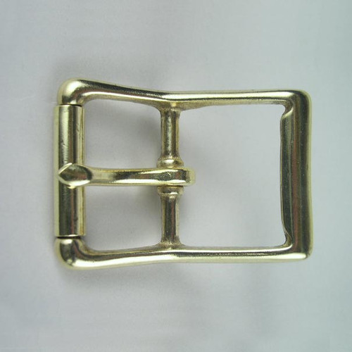 Solid brass buckle inside diameter is 1 1/2 inch.