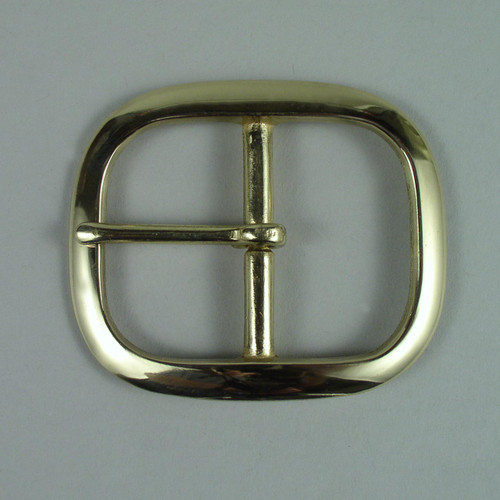 Solid brass belt buckle inside diameter is 1 3/4 inch.