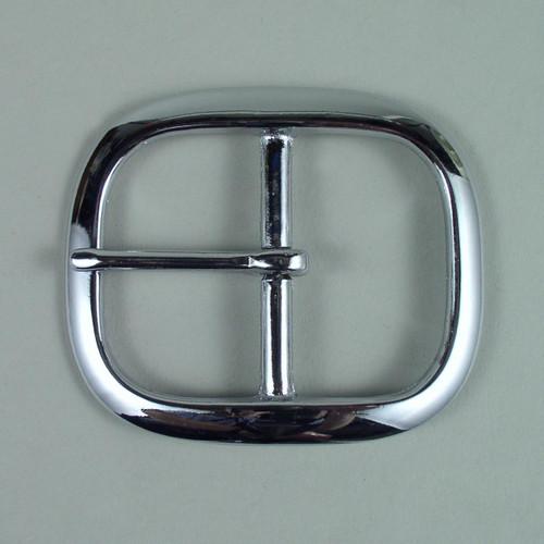 Chrome belt buckle inside diameter is 1 3/4  inch.