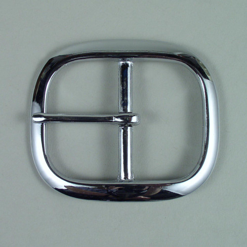 Chrome belt buckle inside diameter is 1 3/4  inch.