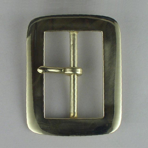 Solid brass reenactment buckle inside diameter is 2 1/2 inches.