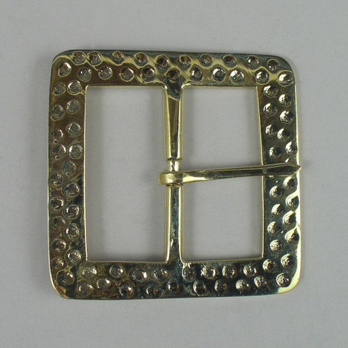 Solid brass reenactment buckle inside diameter is 2 inches.