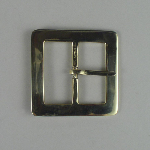 Solid brass reenactment belt buckle inside diameter is 2 inches.