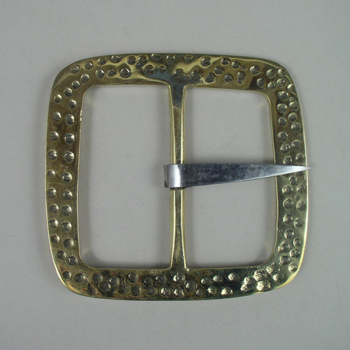 Solid brass reenactment buckle inside diameter is 3 inches.