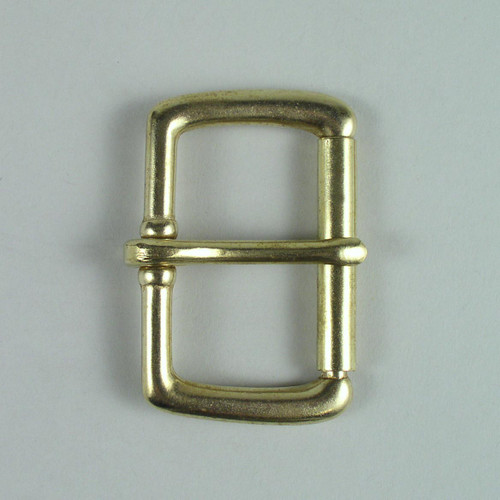 Solid brass roller buckle inside diameter is 2 inches.