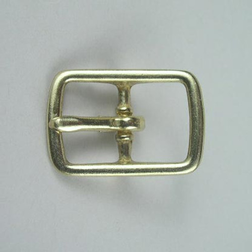 Center bar buckle inside diameter is 3/4 invh.