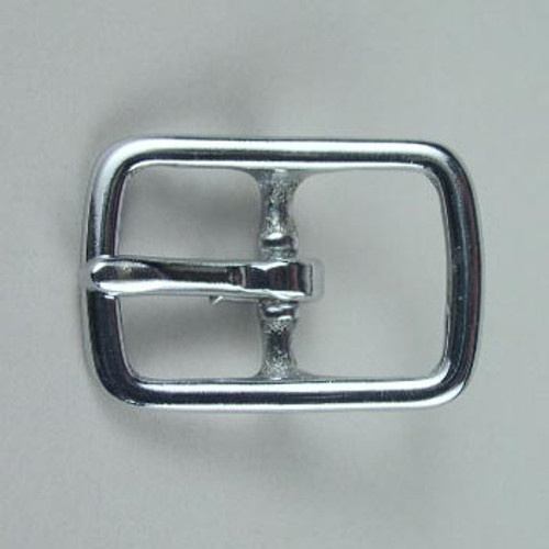 Center bar buckle inside diameter is 3/4 inch.