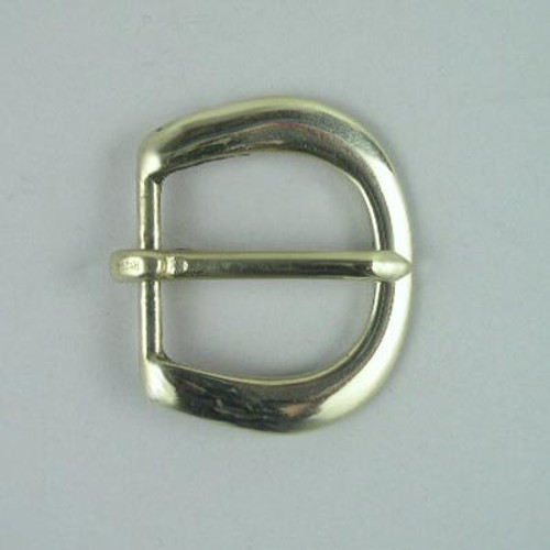 Heel bar buckle inside diameter is 1 inch.