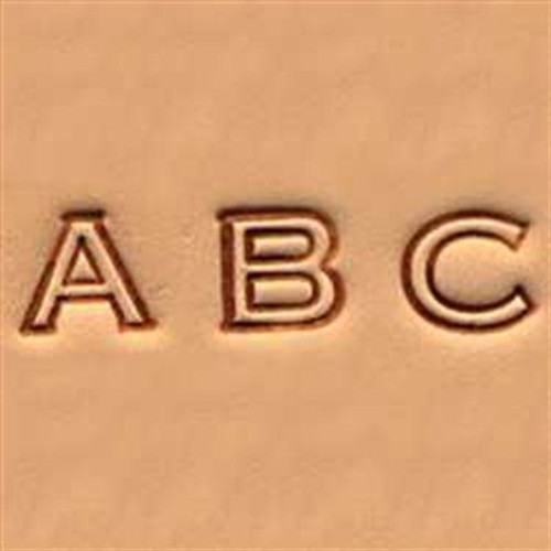 """Alphabet Set Open Face 1/4"""" for hand stamping letters in leather."""