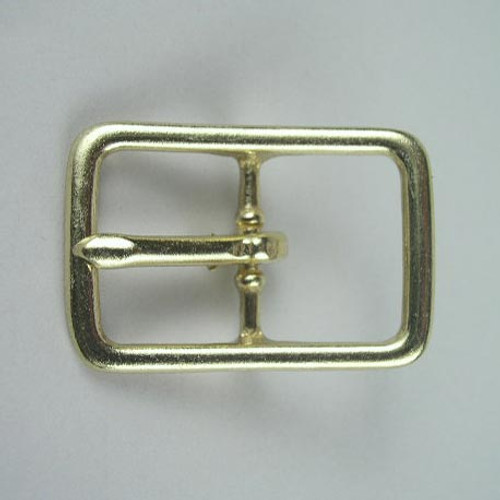 Solid brass strap buckle inside diameter is 1 inch.