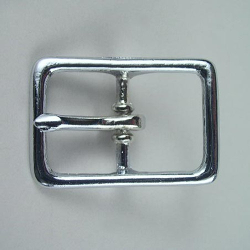 Chrome belt buckle inside diameter is 1 inch.