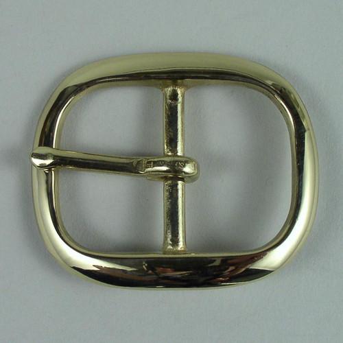 Belt buckle inside diameter is 1 1/4 inch.