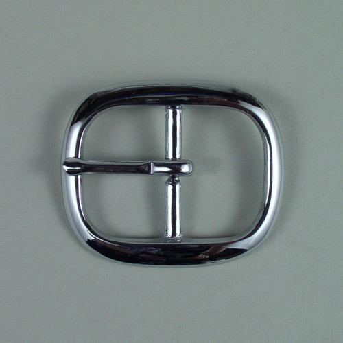 Center bar buckle inside diameter is 1 1/4 inch.