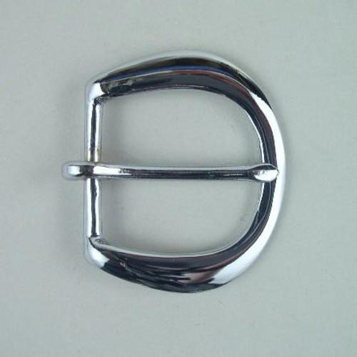 Heel bar buckle inside diameter is 1 1/4 inch.
