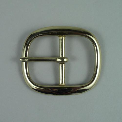 Solid brass belt buckle inside diameter is 1 1/2 inch.