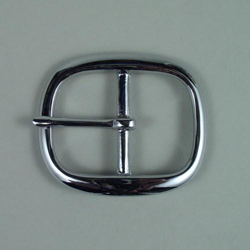 Nickel belt buckle inside diameter is 1 1/2 inch.