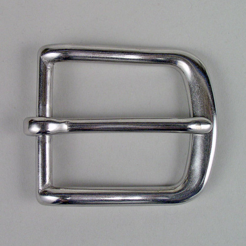 Stainless Steel Heel bar buckle inside diameter is 1 1/2 inch.