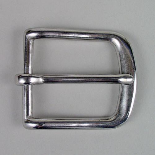 Stainless Steel Heel bar buckle inside diameter is 1 1/2 inch.