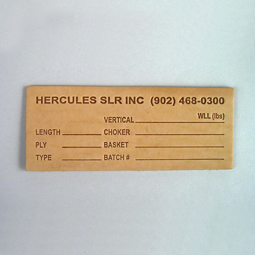 """Leather Sling Tags (5"""" X 2"""")"""