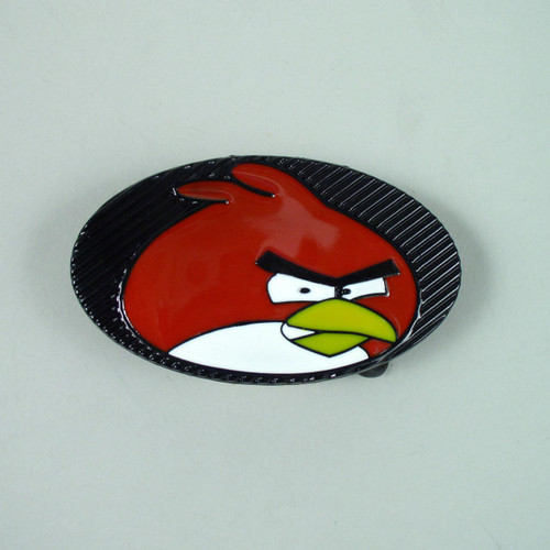 Angry Bird Belt Buckle Fits 1 1/2 Inch Wide Belt.