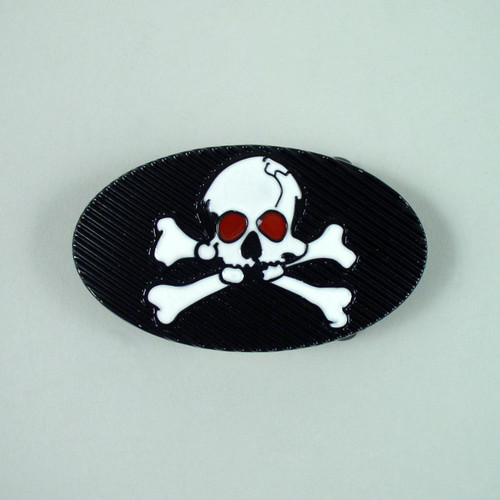Skull & Cross Bones Belt Buckle (B) Fits 1 1/2 Inch Wide Belt.
