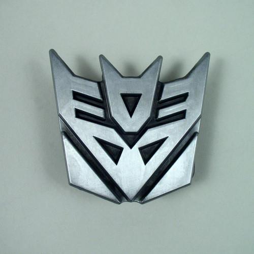Transformer Decepticon Belt Buckle Fits 1 1/2 Inch Wide Belt.