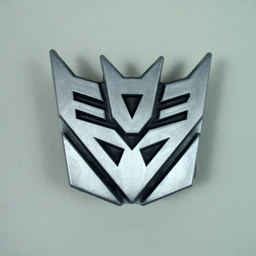 Transformer Decepticon Belt Buckle Fits 1 1/2 Inch Wide Belt.